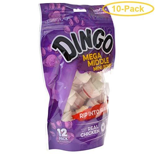 Dingo Double Meat Rawhide & Meat Chew Bone Mini - 2.5