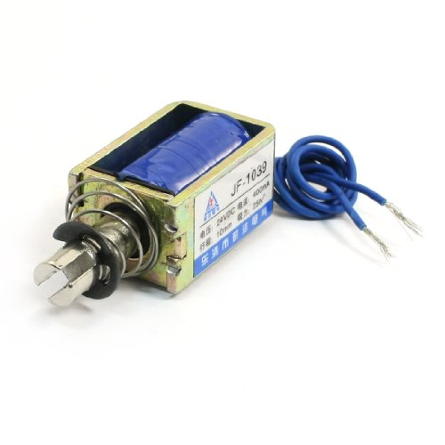Push Pull Actuator (Uxcell 25N Push Pull Linear Actuator Electromagnet Solenoid, JF-1039, DC 24V)
