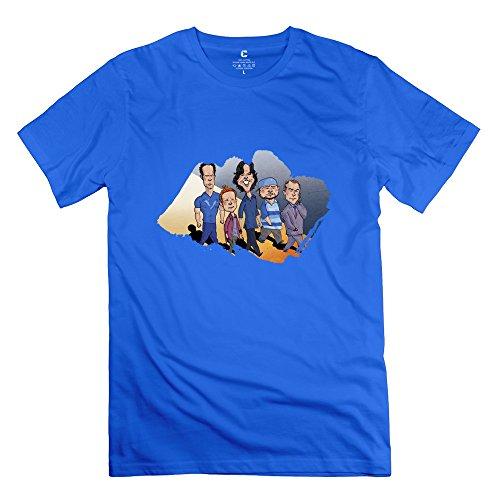 C-DIY Men's Tshirt Best Graphic Entourage Tee XS RoyalBlue