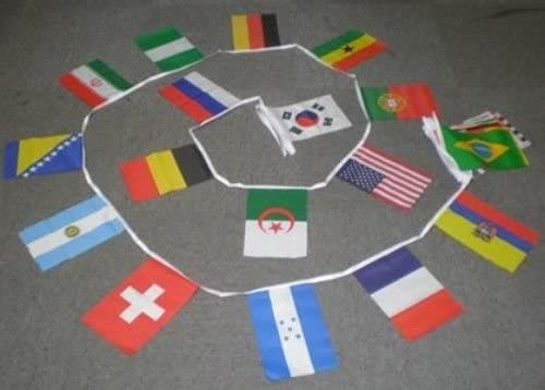 AZ FLAG Guirnalda 9 Metros 32 Banderas de la Copa del Mundo DE Futbol 2014 21x15cm - Bandera del Mundial DE Football EN Brasil 15 x 21 cm - banderines: Amazon.es: Jardín