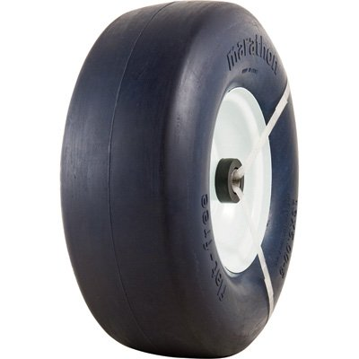 Marathon Tires Flat-Free Lawn Mower Tire – 3/4in. Bore, 13 x 5.00-6in.