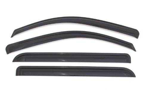(Auto Ventshade 94536 Original Ventvisor Side Window Deflector Dark Smoke, 4-Piece Set for 2014-2018 Silverado & Sierra 1500 Crew Cab | Also fits 2015-2018 Silverado & Sierra 2500HD-3500HD Crew Cab)