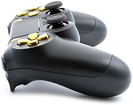 Black/Gold PS4 PRO Smart Rapid Fire Modded Controller Mods for FPS All Major Shooter Games Warzone & More (CUH-ZCT2U) 4