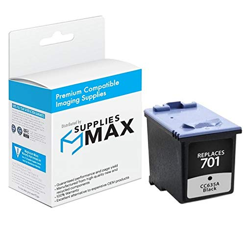 SuppliesMAX Compatible Replacement for HP NO. 701 Black Inkjet (350 Page Yield) (CC635A)