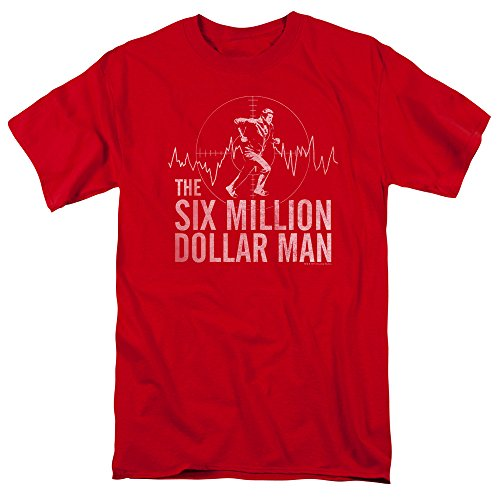 - The Six Million Dollar Man Science Fiction TV Series Target Adult T-Shirt Tee Red