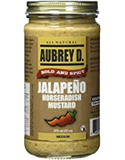 Exotic Handcrafted Jalapeno Horseradish Mustard by Aubrey D for Those Who Love Recipes with a Sizzle and Spice! 12 oz x 1