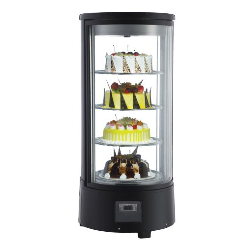 OMCAN 39552 RS-CN-0072-R Rotating Countertop Glass COOLER Display Case for Cakes & Pies (Pie Display Case)