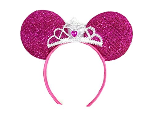 Price comparison product image MeeTHan Mickey Mouse Ears Headband Minnie Mouse ears Tiara headbands : M6 (Pink2)