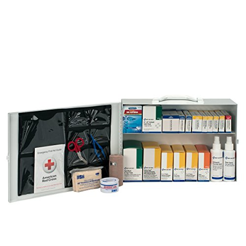 Pac-Kit by First Aid Only 6135 435 Piece Steel Cabinet Industrial 2 Shelf First Aid (First Aid Industrial Station)