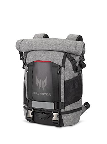 Acer Predator Gaming Rolltop Backpack 15.6 for all Gaming Laptops Expandable space up to 35.5L capacity, Travel backpack, organized pockets for all gears