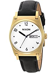 Nixon Womens A955513-00 Jane Leather Analog Display Japanese Quartz Black Watch