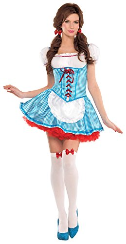 Amscan Kansas Cutie Adult Dorothy Costume - Small,BlueSmall (2-4)