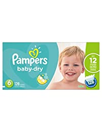 Pampers Baby Dry Diapers Size 6, 128 Count BOBEBE Online Baby Store From New York to Miami and Los Angeles