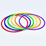 S&S Worldwide YS-AR-20 Spectrum Flat Hoops / Agility Rings, 19''