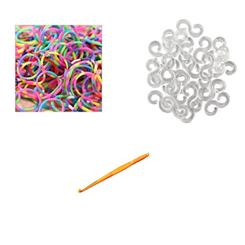 UPC 691052368271, Ateam 600 Pieces Various Color Selection Loom Bandz with 25 Clips (1 Hook for Metallic Color & Tie Dye) (Tie Dye Bright)