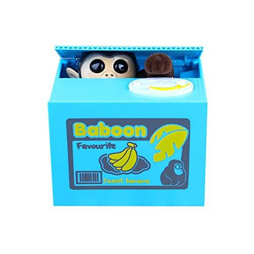 PSFS Stealing Coin Monkey Box- Piggy Bank - Money Saving Box Gift Cute Mischievous Monkey Piggy Coin Bank Big Sale (Monkey)