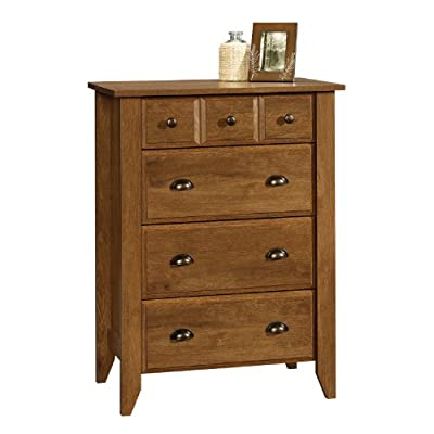 "Sauder 410288 4-Drawer Chest, 34.724"" L x 18.583"" W x 42.677"" H, Oiled Oak"