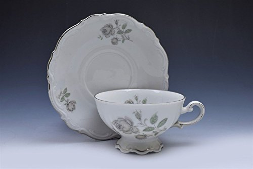 (Mitterteich Bavaria Germany Mystic Rose Cup and Saucer Set (s) )