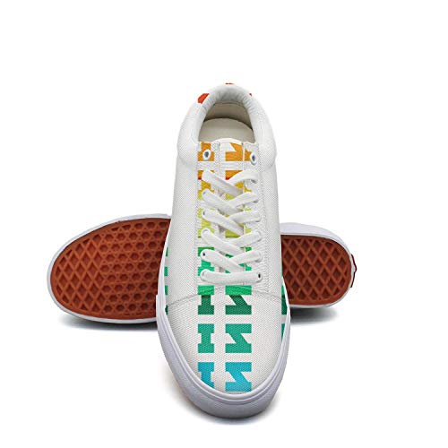 Ladylove is Love Retro Rainbow Gay Lesbian Canvas Shoes Low-Cut Straps Classic Sneakers Suitable for Walking