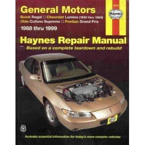 GM: Regal, Lumina, Grand Prix, Cutlass Supreme '88'99 (Haynes Automotive Repair Manual Series)