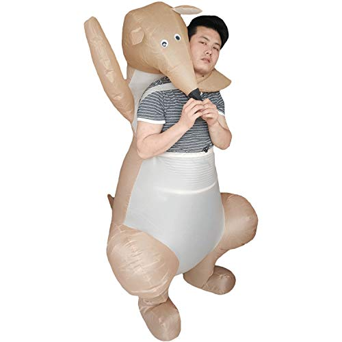 Inflatable Kangaroo Costume Animal Mascot Adults Party Halloween Blow Up Fancy Dress Cosplay Outfit