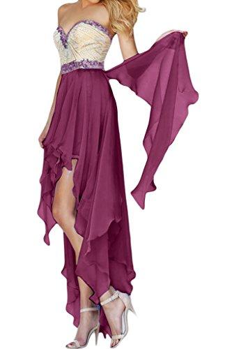 missd ressy Mujer Gasa falte Corazón de recorte aermel los Hi-Lo vestido de cóctel morado 2 mes