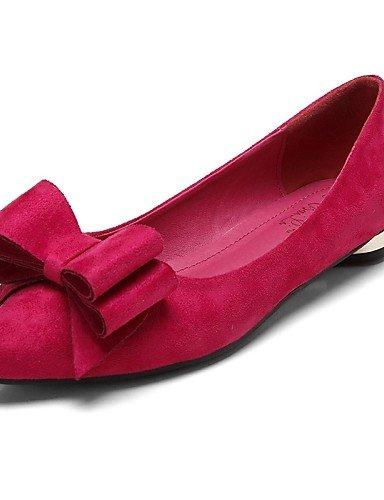 us8 Talón Rosa Flats Carrera Plano Pdx vestido rojo De Y Comodidad Sintética Mujer Eu39 Red Cn39 casual Zapatos Uk6 Oficina Piel de n7xWS7YgU