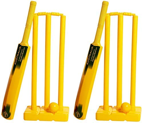 ND 2019 Kricket Weltmeisterschaft Plastik Plastik Plastik Cricket Doppel Set Garten Strand Innen Außen B07QHRQ39V Cricket-Sets Hervorragende Eigenschaften 05631e