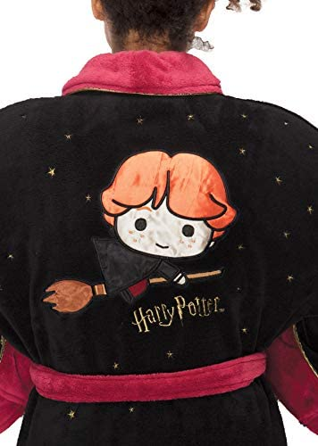 Groovy Harry Potter Ladies Fleece Bathrobe Kawaii Ron Weasley ...