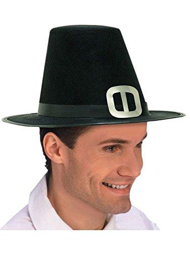 (Forum Novelties Men's Novelty Adult Pilgrim Man Hat, Black, One)