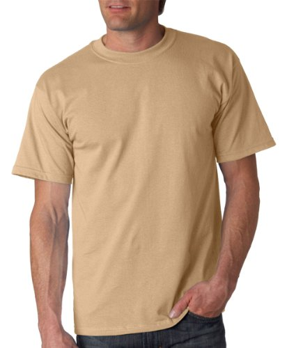 Tan Brown Tee Shirt (Gildan Men's Ultra Cotton Crewneck T-Shirt, Tan, Large)