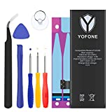 YOFONE Li-ion Battery for iPhone 5S or 5C with Repair Replacement Kit, Glue Adhesive Strips & Instructions – New Full 1560mah Batteries 0 Cycle [2-Year Warranty]