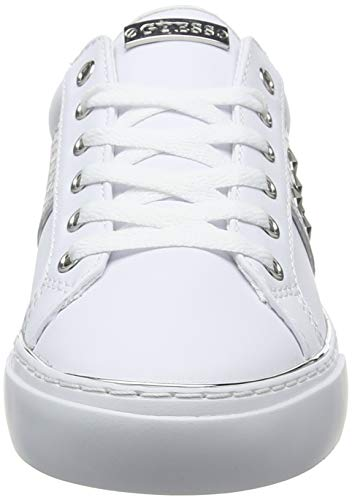 Femme Biancowhite Guess Lady Gamer5 leather LikBaskets Silve active nwZ8k0OPNX