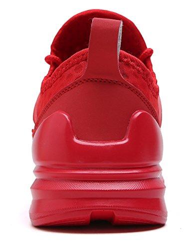 Sneakers Corsa Scarpe Leggero VITIKE Ashion Running Scarpe rosso Fitness Scarpe Uomo Sport Mesh by da Training da Ginnastica Respirabile 2 ROq0R