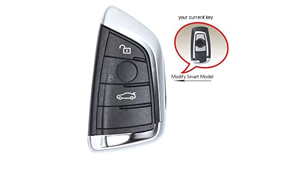 Shell Only 2x New Replacement Remote Key Fob Case  COMFORT ACCESS For BMW