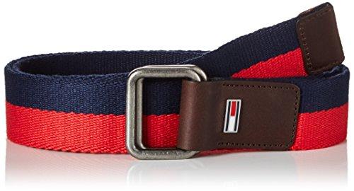 Jeans blu Stripe Tommy rosso Webbing bianca scuro Belt Men Cintura 4 tommy 6BH5f