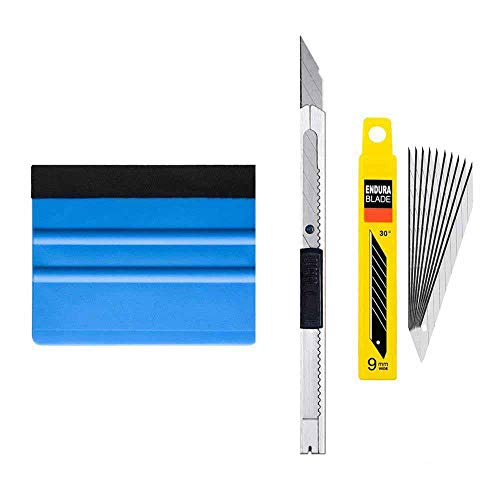 (3pcs/Set Car Squeegee Scraper Wrapping Tools Vehicle Vinyl Wrap Film Sticker Installation Kit Cutter Knife Auto Car Accessories)