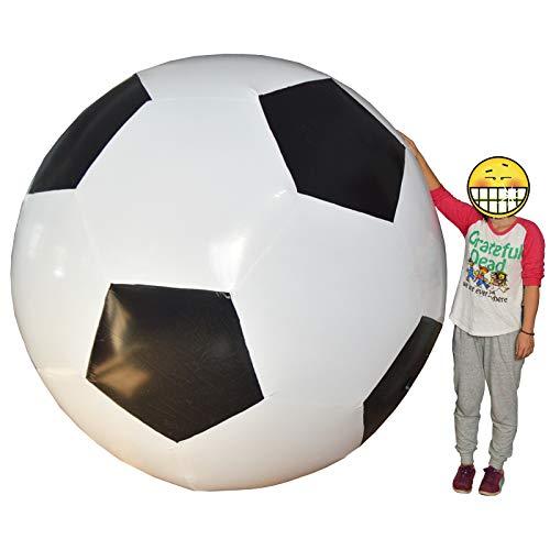 ノーブランド スーパージャイアント インフレータブル サッカーボール デコレーション 6フィート B07H3MQSPT