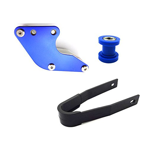 TC-Motor Blue 10mm Chain Roller Tensioner + Black Plastic Chain Slider + Aluminum Rear Swingarm Guard Chain Guide For Chinese Pit Dirt Trail Bike Motorcycle 50cc-160cc CRF50 XR50 SSR TTR Thumpstar by TC-Motor (Image #1)