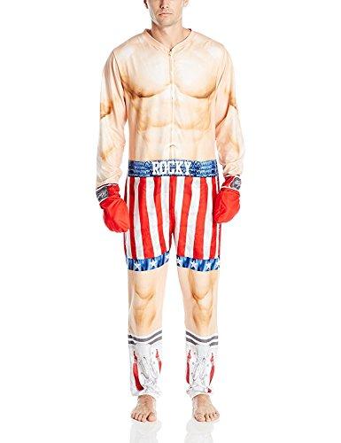 MGM Men's Rocky Uniform Union Suit, Red, S