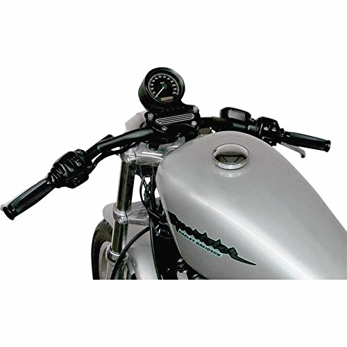 Todds Cycle 1in. Center Handlebars - 1in. Speed Down - Flat Black , Handle Bar Size: 1in., Color: Black 0601-1867 by Todds Cycle (Image #1)'