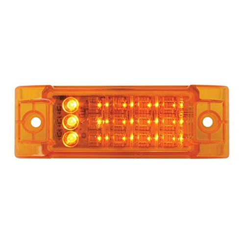 Grand General 77664 Rectangular Amber Turn/Marker/Clearance LED Light for Trucks, Trailers, RVs, Buses and Utility…