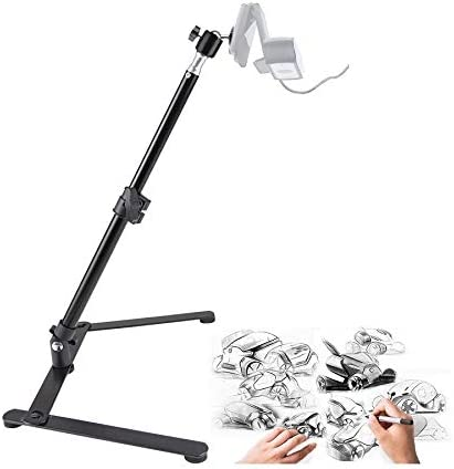 STORAGEGEAR Webcam Lighting Stand with Phone Holder for Live Stream Selfie Ring Light with Webcam Mount for Logitech C925e C922x C930e,C922,C930,C920,C615,Brio 4K