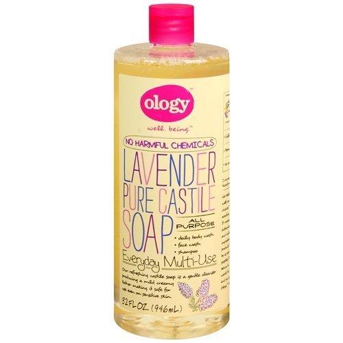 Ology Pure Castile Liquid Soap, Lavender 32 oz(pack of 2)