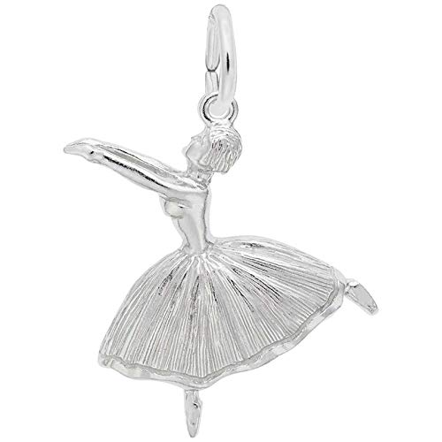 Rembrandt Charms Ballet Dancer Charm, Sterling Silver