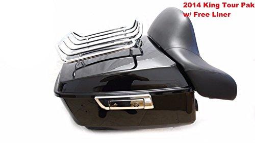 King Tour Pak Pack Trunk W/ Rack Backrest For Harley Street Road Glide 2014-2017 by Mutazu