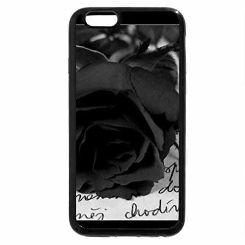 iPhone 6S Case, iPhone 6 Case (Black & White) - roses nota