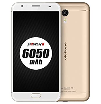 [Nuevo Lanzamiento] Ulefone Power 2 - Batería 6050mAh 5,5 pulgadas Android 7,0 smartphone 4 GB RAM 64 GB ROM MTK6750T Octa Core 13MP + 16MP cámara de ...