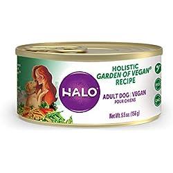Halo Vegan Natural Wet Dog Food, Garden Of Vegan Recipe, 5.5-Ounce Can (Pack Of 12)