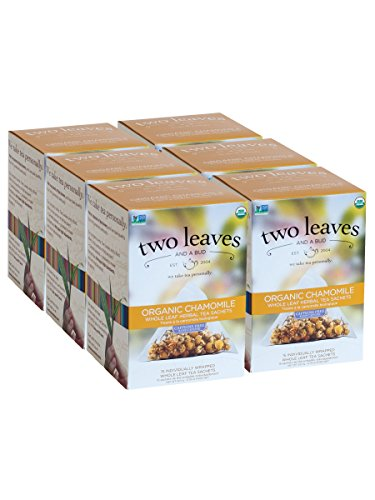 Two Leaves and a Bud Organic Chamomile Herbal Tea, 15 Count (Pack of (Bud Tea)